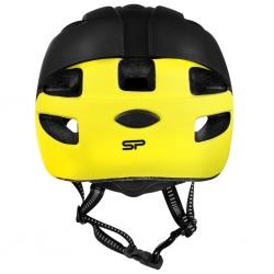 Kask rowerowy regulowany 48-54 cm CHERUB czarny/żółty Spokey