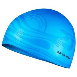 Czepek silikonowy z falą SHOAL niebieski Spokey