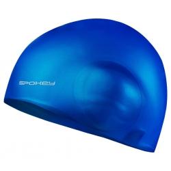 Czepek pływacki z dodatkową ochroną na uszy EARCAP ciemnoniebieski Spokey