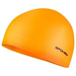 Czepek pływacki jednobarwny SUMMER pomarańczowy Spokey