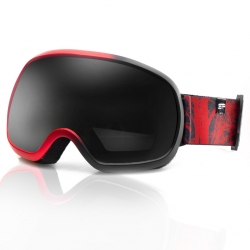 Gogle narciarskie PARK czarno-czerwone Spokey