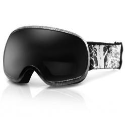 Gogle narciarskie PARK czarno-białe Spokey