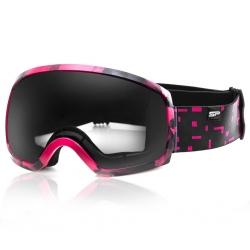 Gogle narciarskie RADIUM czarno-różowe Spokey