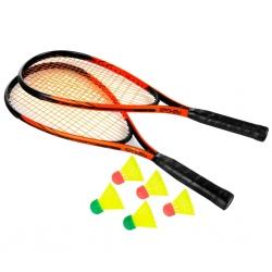 Zestaw do Speed-Badmintona 2 rakiety + lotki + pokrowiec Spokey