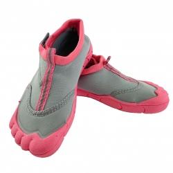 Obuwie plażowe, buty do wody junior REEF GIRL szaro-koralowe Spokey