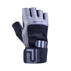 Rękawiczki fitnesowe GUANTO II czarno-szare Spokey