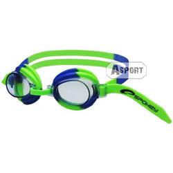 Okulary pływackie dziecięce JELLYFISH 84106 zielono-niebieskie Spokey
