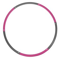 Hula Hop składane 90 cm szaro-różowe Sportvida