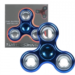Fidget spinner, zabawka obrotowa, zręcznościowa niebieski metallic