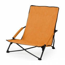 Leżak plażowy składany, krzesełko plażowe pomarańczowe Sportvida