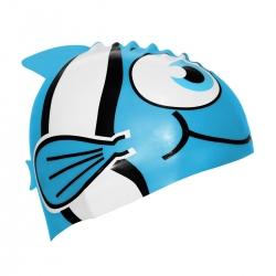 Czepek pływacki dla dzieci RYBKA niebieska Sportvida
