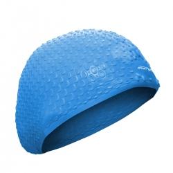 Czepek pływacki z silikonu na długie włosy niebieski Sportvida