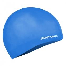 Czepek pływacki z silikonu dla dorosłych niebieski Sportvida