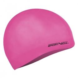 Czepek pływacki z silikonu dla dorosłych różowy Sportvida