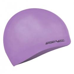 Czepek pływacki z silikonu dla dorosłych fioletowy Sportvida