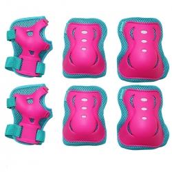 Ochraniacze juniorskie na nadgarstki, łokcie, kolana 3pack różowe Sportvida