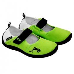 Obuwie plażowe Buty do wody juniorskie zielone Sportvida