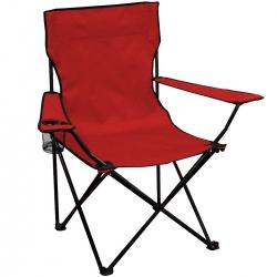 Krzesło turystyczne czerwone składane dla wędkarza Sportvida