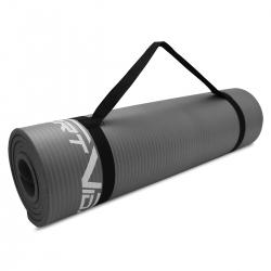 Gruba mata do ćwiczeń NBR 1,5cm szara SportVida