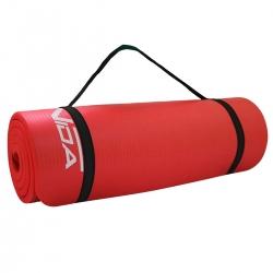 Gruba mata NBR do ćwiczeń fitness, jogi, pilates 180x60x1,5 czerwona SportVida