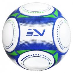Piłka nożna na trawę rozmiar 5 biały/niebieski/zielony Sportvida