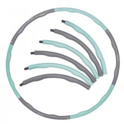 Hula-Hop, składany, masujące wypustki ok. 100 cm szaro-niebieskie