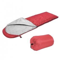 Śpiwór kołdra z kapturem 190g/m2 czerwony Sportvida