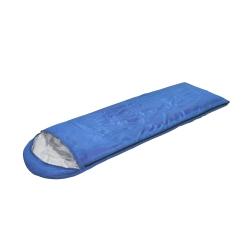 Śpiwór kołdra z kapturem 190g/m2 niebieski Sportvida