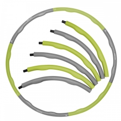 Hula-Hop, składany, masujące wypustki ok. 100 cm szaro-zielone