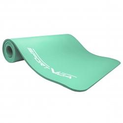 Gruba mata NBR do ćwiczeń fitness, jogi, pilates 180x60x1,5 miętowy SportVida
