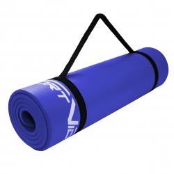 Gruba mata do ćwiczeń NBR 1cm ciemnoniebieska SportVida