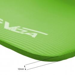Gruba mata do ćwiczeń NBR 1cm zielona SportVida