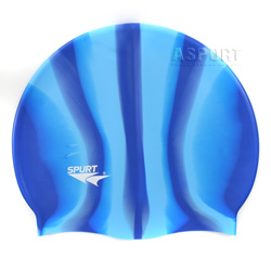 Czepek pływacki, wielokolorowy, silikonowy, uniwersalny MI 1 Spurt
