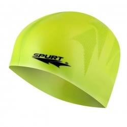 Jednokolorowy czepek silikonowy z tłoczeniem SC23 zielony SPURT