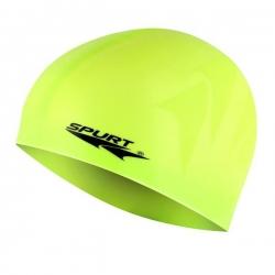 Jednokolorowy czepek silikonowy z tłoczeniem F213 żółty SPURT