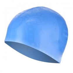 Czepek pływacki damski G-TYPE WOMEN F224 niebieski wzór SPURT