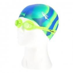 Zestaw pływacki, uniwersalne okularki pływackie + czepek ZEBRA SPURT