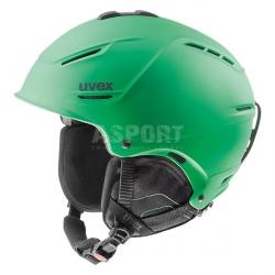 Kask narciarski, snowboardowy P1US regulowany zielony Uvex