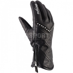 Rękawice narciarskie damskie, ocieplenie Primaloft, 95% skóra KIRA Viking
