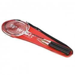 Zestaw rakiet do badmintona ALUMTEC 501K czerwony + czarny WISH